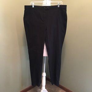 Black snap zippered dress pants size 16